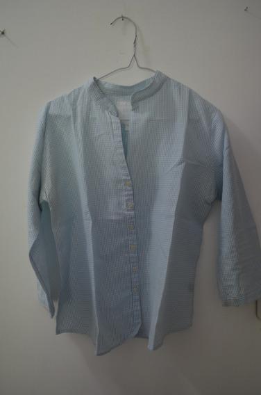 Camisa Celeste Con Blanco Usada
