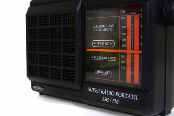 Radio Motobras 2 Faixas Rm-pft22ac Am/fm Original