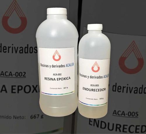 Resina Epoxica Transparente 1kg En Total (a+b)