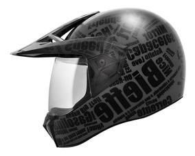 Capacete Bieffe 3 Sport Mirror Preto Fosco Lançamento Com Nf