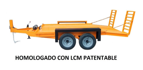 Trailer Carreton Vial 4tn Para Mini Pala  Lcm Patente De 0km