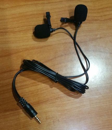 Imagen 1 de 1 de Micrófono Doble De Celulares Para Entrevista