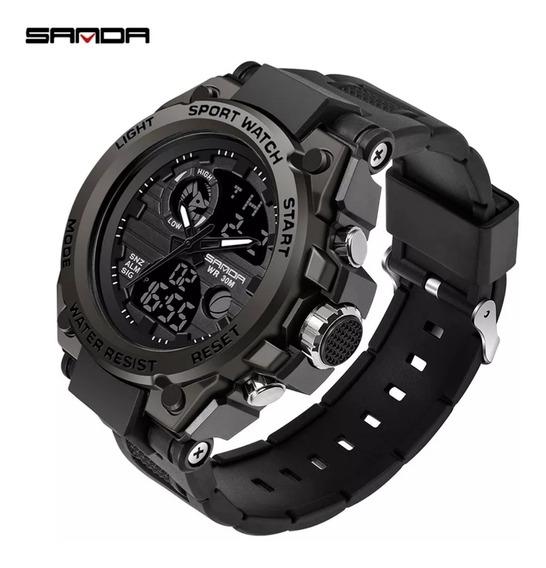 Reloj De Caballero Uso Rudo Black Diseño Elegante