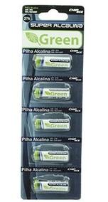 Bateria A27 12v Alcalina 2 Cartelas Com 5 Unidades Cada