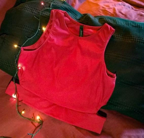 Top Rojo A La Cintura. Talle 48/50