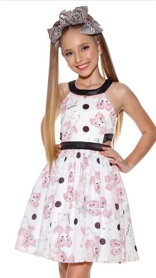 Vestido Miss Cake FlamingoTam 10, 12 E 14
