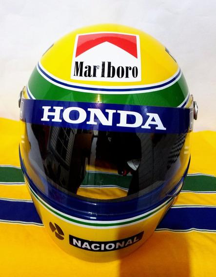 Capacete Ayrton Senna Campeão Mundial 1991 + Adesivos!!!