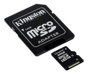 Kit Com 3 Cartão De Memória Kingston 32gb + 1 Adap Sdc4