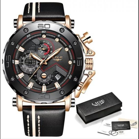 Relógio Masculino Lige 9899 Luxo 100% Funcional