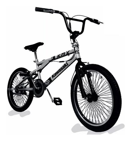 Bicicleta Rod 20 Aluminio Kawasaki Bmx Freestyle Kmx-201