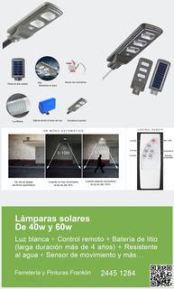 Lámparas Solares Para Jardín, Calles, Condominios, Etc.