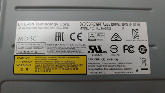 Multi Dvd Lite On Rw 22x Has122-14f M-disc.