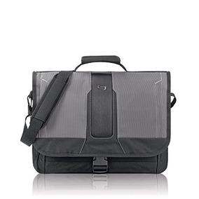 Mochila Solo Supreme 15.6 Inch Laptop Messenger, Black/grey