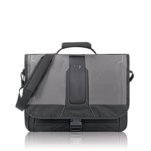 Mochila Solo Supreme 15.6 Inch Laptop Messenger, Black/grey