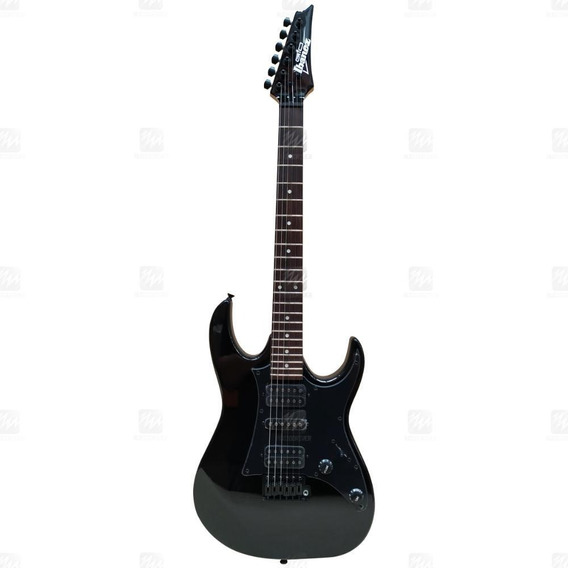 Guitarra Ibanez Rock Preta Grx 55b Black Night Com Alavanca