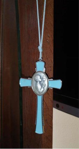 Imagen 1 de 4 de Cruz Esmaltada De Bautismo .