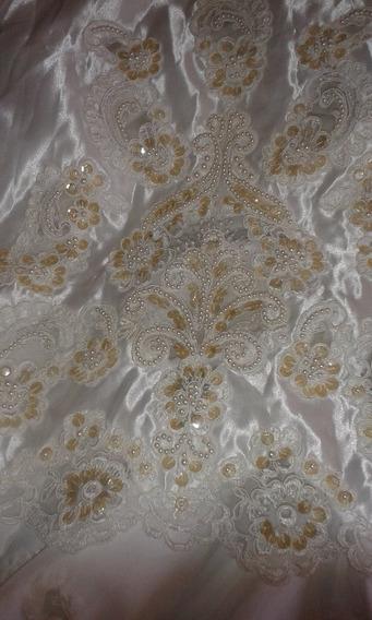 Vestido De Novia Nuevo Bordado Con Perlas Y Lentejuelas