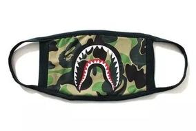 Bape Mask Shark Preto Mascara Hype Moda Trap 777 !!!