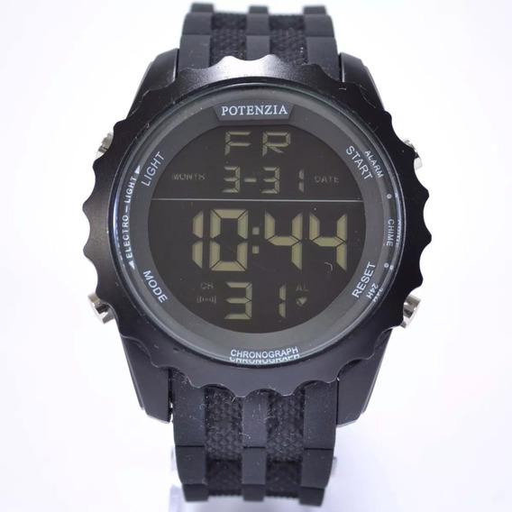 Relógio Original Masculino Potenzia Digital Cronômetro 18k