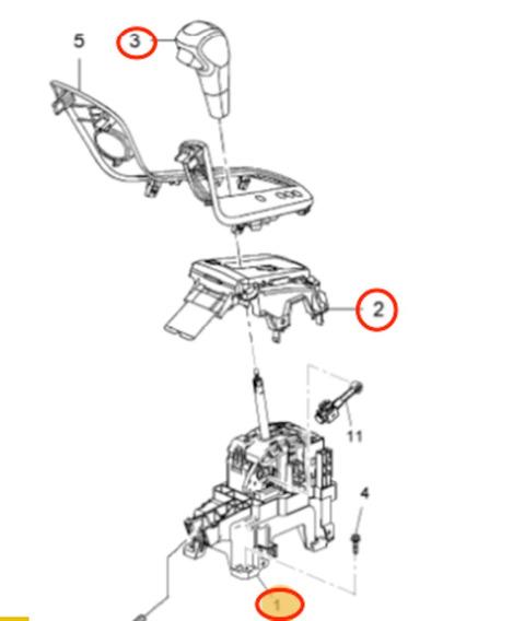 Alavanca Completo Cruze Transmissão Automática 95174464