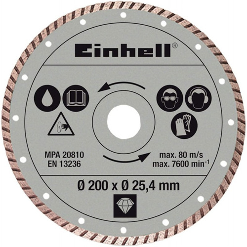 Disco De Corte Diamantado  Einhell 4301175