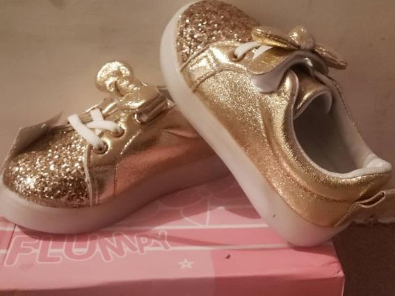 Zapatos De Niñas Con Luces Led