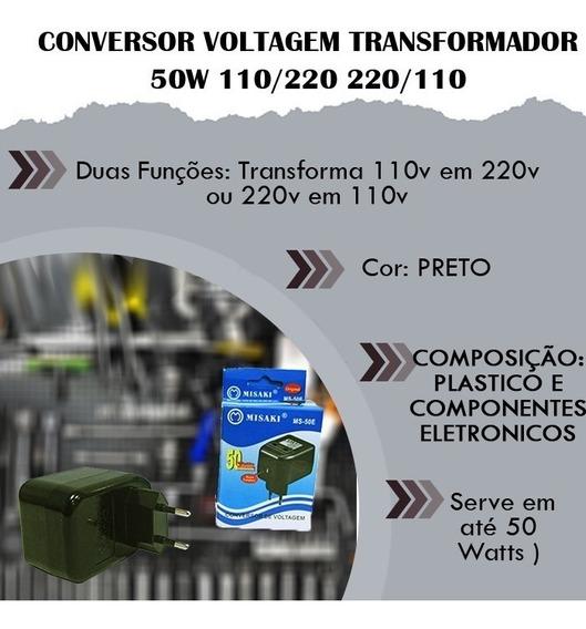 Conversor Voltagem Transformador Fonte 50w 110/220 220/110