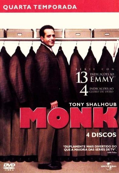 Monk 4ª Temporada - Box Com 4 Dvds - Tony Shalhoub