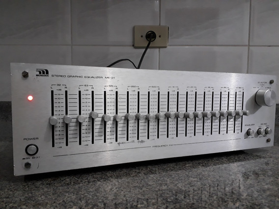 Equalizador Stereo Grafico Micrologic Me21 10 Bandas Canal
