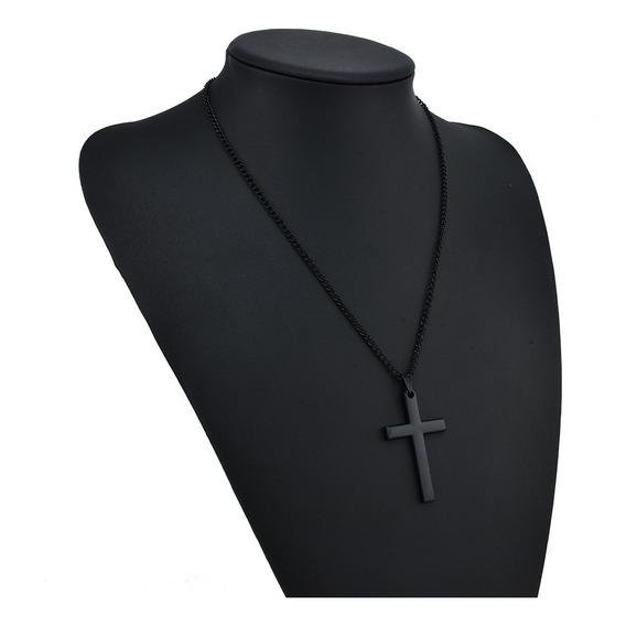 Colar Cordao Corrente Masculina Cruz Crucifixo Aço Inox