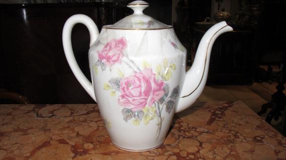 Antigua Tetera De Porcelana Francesa Limoges