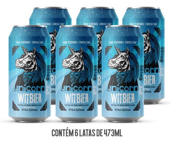 Cerveja Unicorn Witbier Caixa C/ 6 Latas 473 Ml