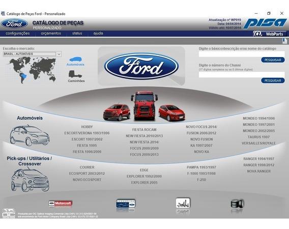 Catálogo Eletrônico Peças Ford 2014 Mondeo 97 98 99 2000