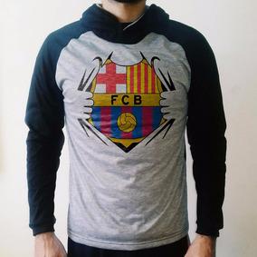 Casaco Barcelona Com Capuz - Blusa De Frio Raglan