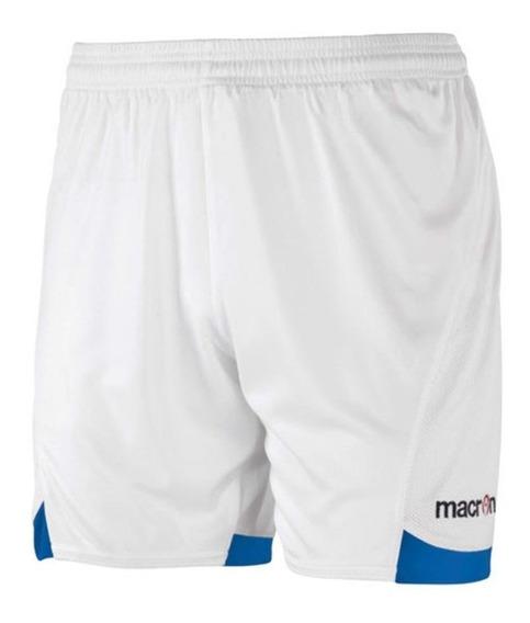 Short De Futbol Modelo Hun- Blanco Y Azul- Macron