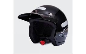Capacete Moto Aberto Wind V2 Speed Lines Preto Tam 58
