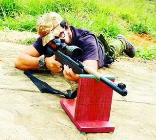 Saco Para Apoio De Rifles, Fuzis, Espingardas Ou Carabinas