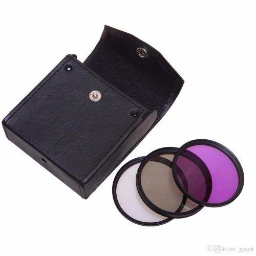 Kit Com 3 Filtros Uv Clp Fld Lente De 72mm Canon Nikon Sony