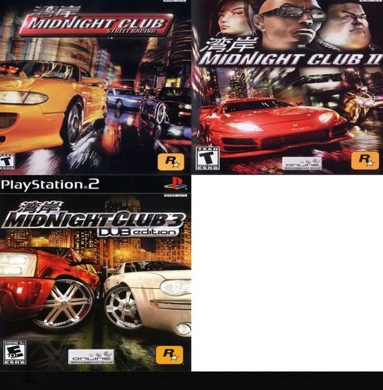 Coleção 3 Jogos Midnight Club Ps2 Patch
