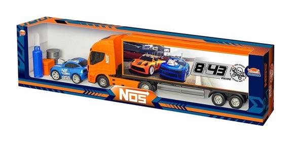 Carreta Nos Speed Race Team Com Obstáculos Usual Plastic