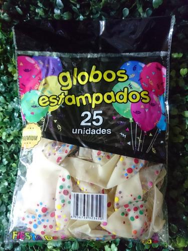 Globos Estampados Premium X25 Unidades