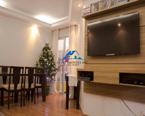 Apartamento 3 Dormitórios, 1 Banheiro Com Box De Vidro, Gabinete E Pia, Sala 2 Ambientes Com Rack, Varanda, Cozinha Ampla, Com Armários Embutidos - Ap01471 - 69420500