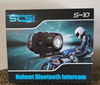 Intercomunicador Para Moto Con Cámara De Acción Integrada!!