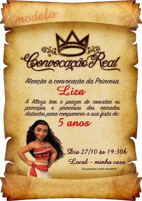 Kit Com 25 Undades De Convite Pergaminho