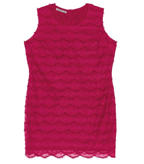 Vestido Renda Secret - Cor Cereja - 4003