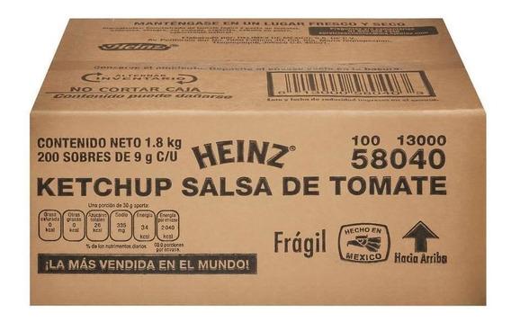 Salsa Catsup Heinz 200p/9g