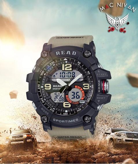 Relógio Masculino Esportivo Militar Digital Led Ponteiro Top