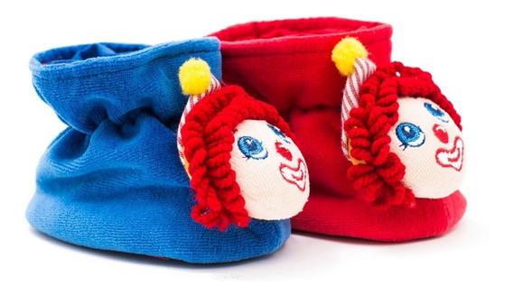 Pantuflas Para Bebe Unisex Comodas Trepsi Payaso Azul-rojo