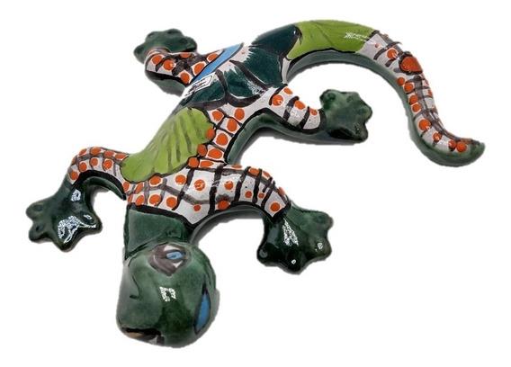 Iguana Salamandra Ceramica Adorno Talavera Mexico Exterior