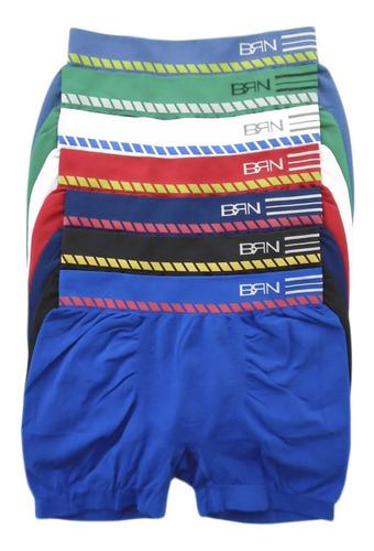 Cueca Boxer Sem Costura Bressan Kit Com 6 Cuecas Original